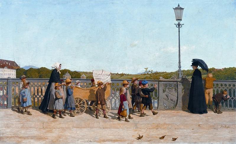 Albert Anker - Kleinkinderschule auf der Kirchenfeldbrücke (1900)