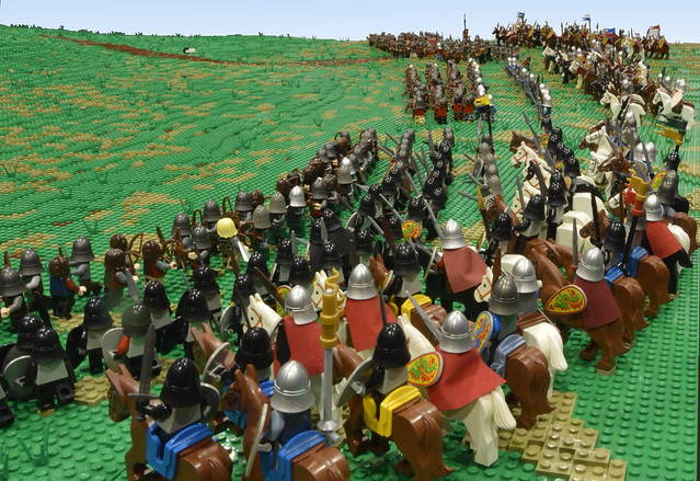 enormous lego battle of hastings display  interview