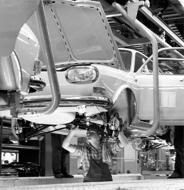 Производство Volkswagen 411. 1968 год