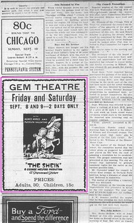 2016-8-5. The Sheik at the Gem Theater