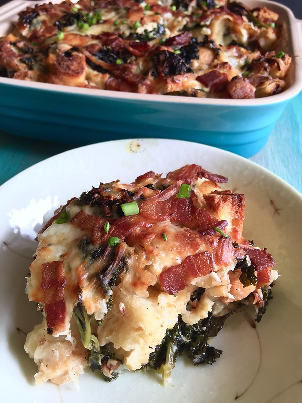 Bacon and Kale Strata