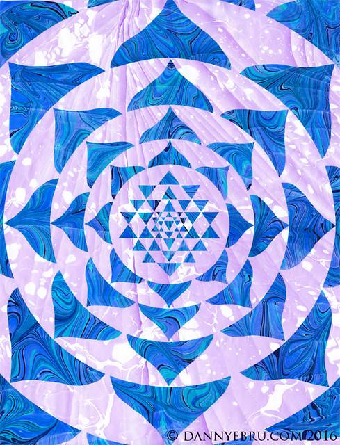 Ebru Art Mandala - Sri Yantra