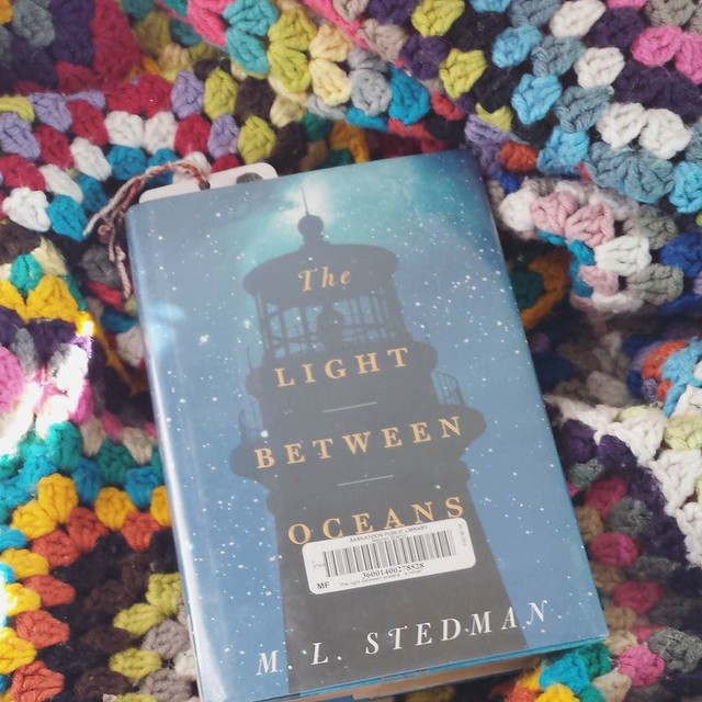I have been devouring books lately! This is the next one I'm digging into. I'm resting my hand after knitting that birthday blanket, my tendinitis came back so it's hurting quite a bit. I want to knit and crochet so badly, so all this reading is a good di