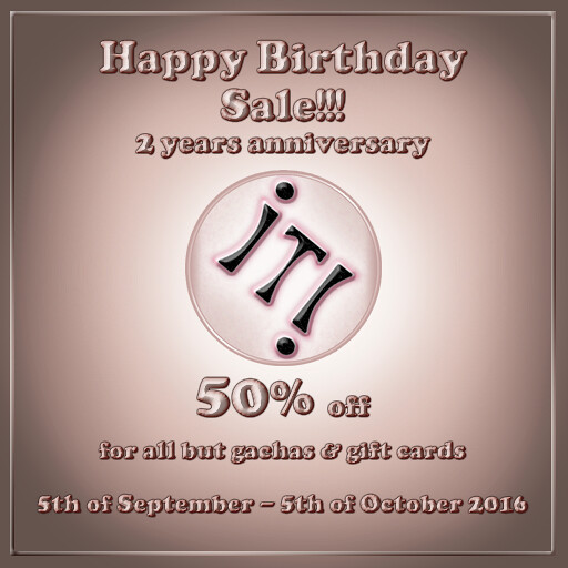 IT! 2 years sale