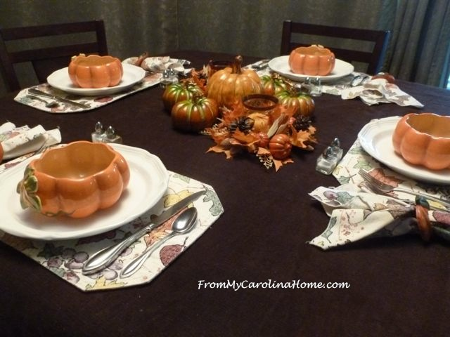 Pumpkins Tablescape ~ From My Carolina Home