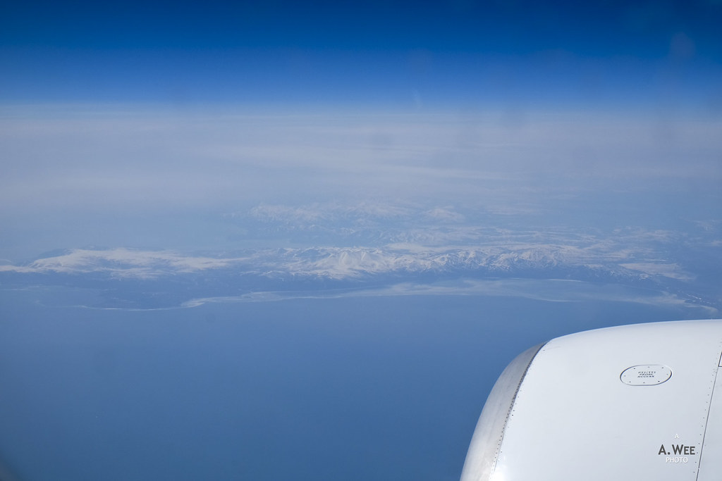 Flying past Bering Sea