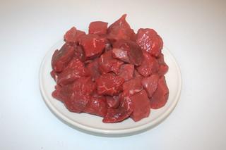 01 - Zutat Rindergulasch / Ingredient beef goulash