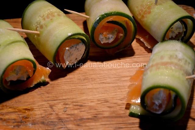 Bouchées au Saumon Comcombre & Fromage Frais © Ana Luthi Tous droits réservés 009
