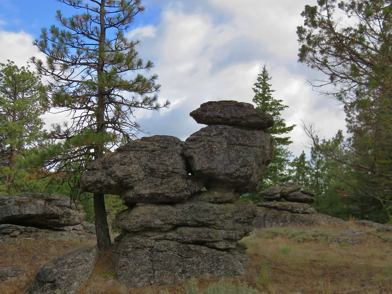 Andesite rock piles
