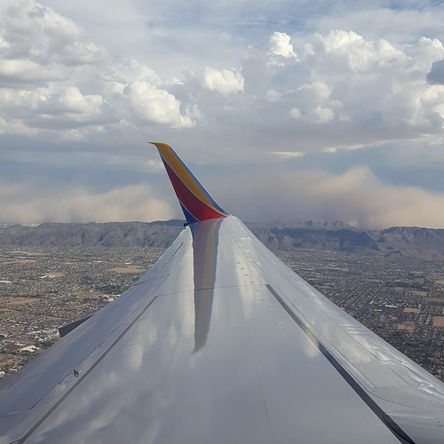 Flying away from a dust storm. #Phoenix