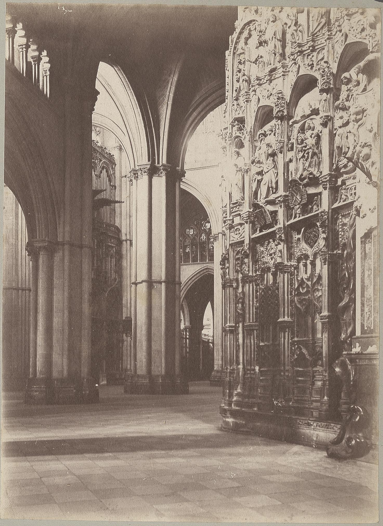 Interior de la Catedral de Toledo en 1886 © Archives départementales de l'Aude