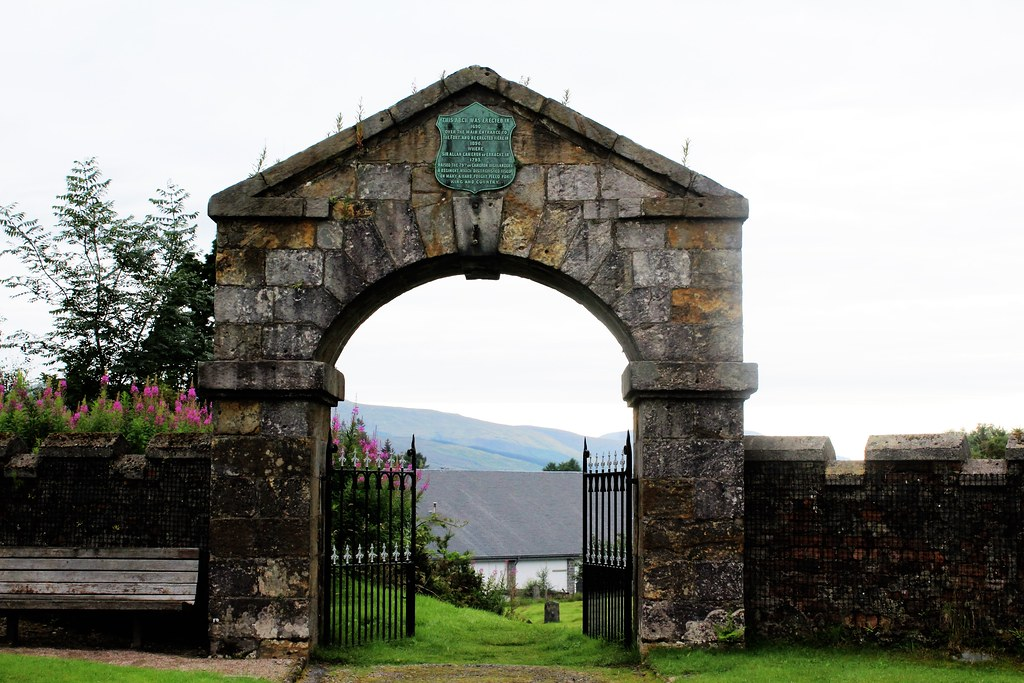 Entrance Arch at Fort William Cemetery.