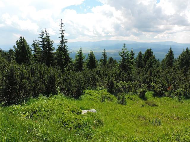 View of the Low Tatras from High Tatras, Slovakia
