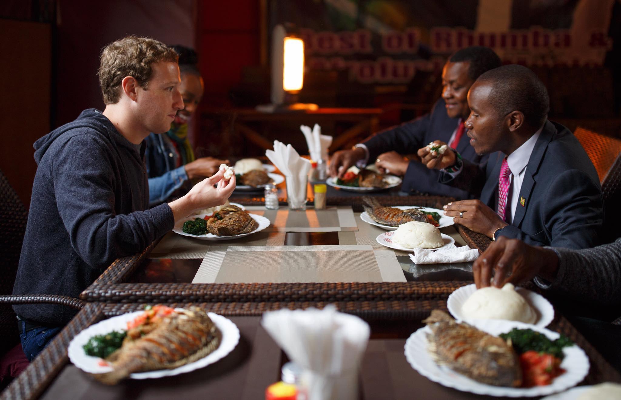 Facebook boss in Kenya