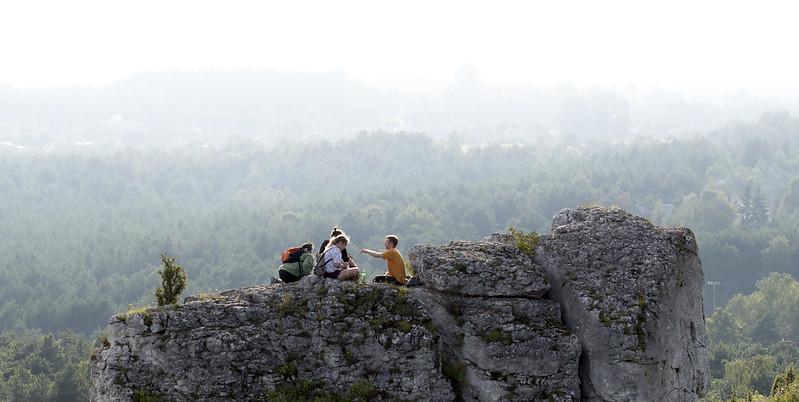 People on the rock - Jura, Poland