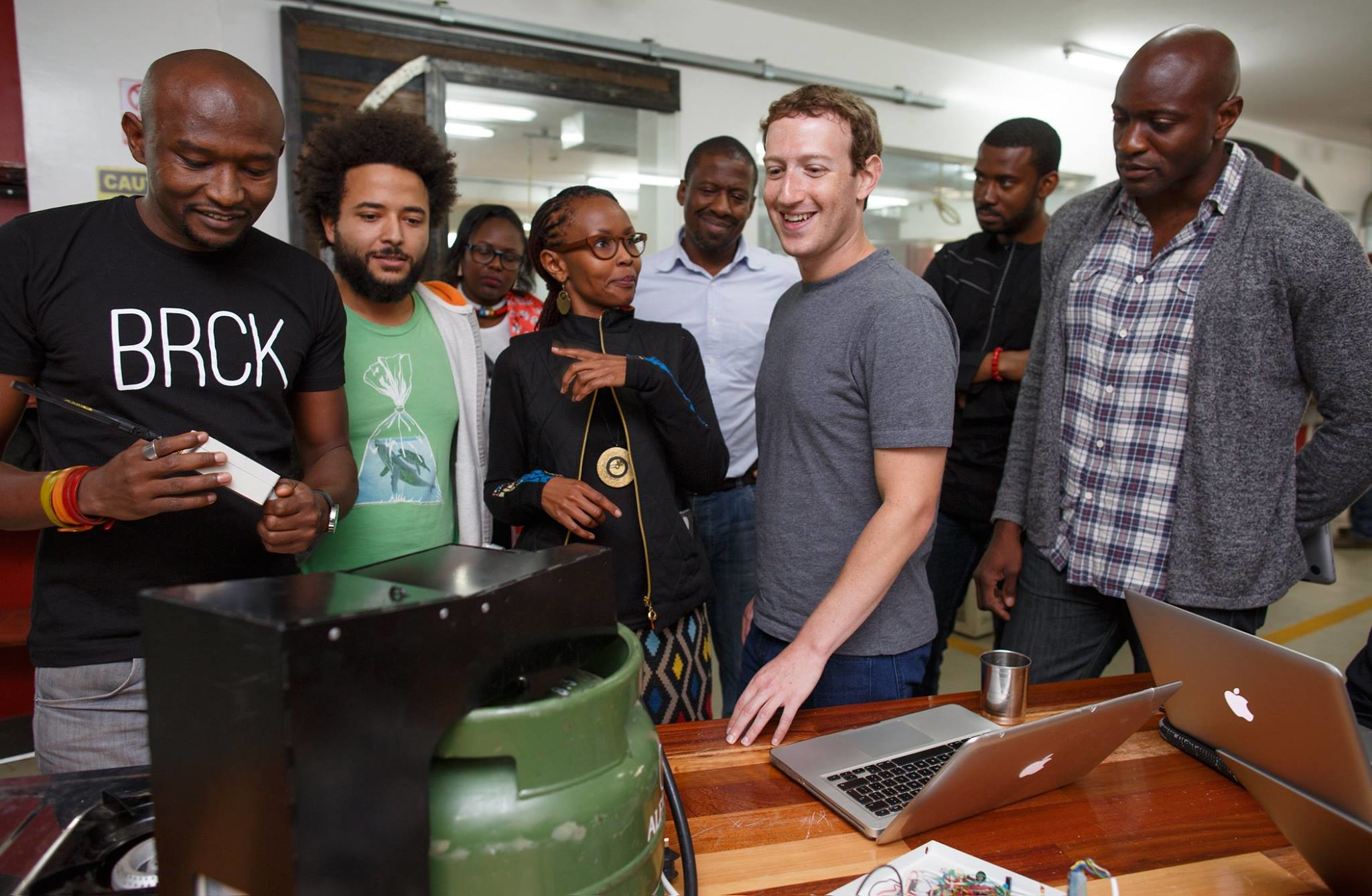 Facebook boss in Kenya 1