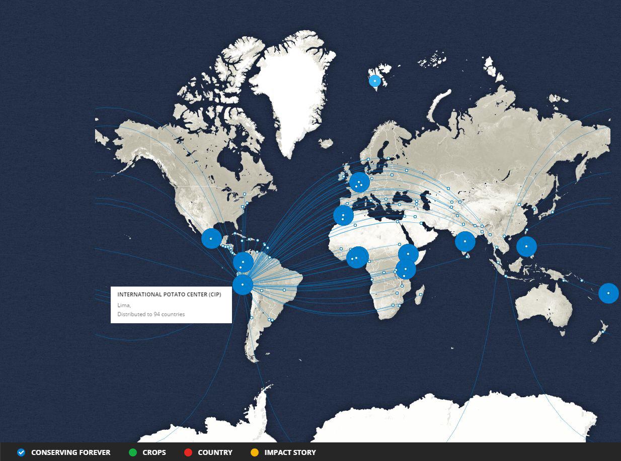 Mapa del Centro Internacional de la Papa