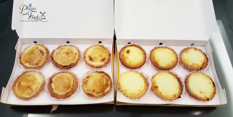 kajang happy happy bread bakery cheese and durian tarts of six