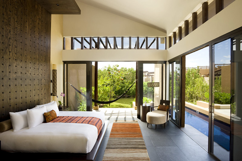 Interior of villa at Banyan Tree Mayakoba