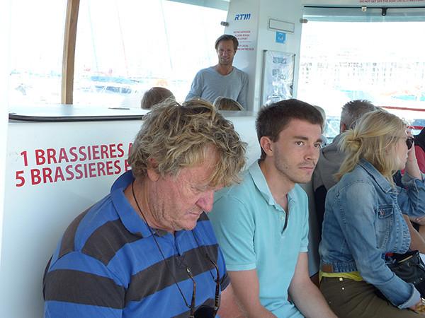sur le ferry boat
