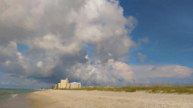 Orange Beach Sky - Topaz Impressions - oil painting by Jim LaSala 51pct