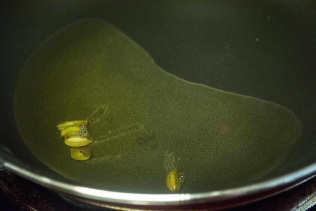 sauteed cardamom for salna