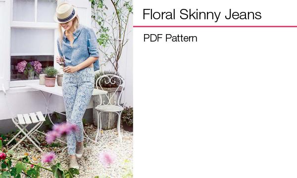 Floral Denim Skinny Jeans