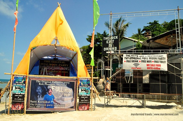 Preparing for the Full Moon Party at Koh Phangan