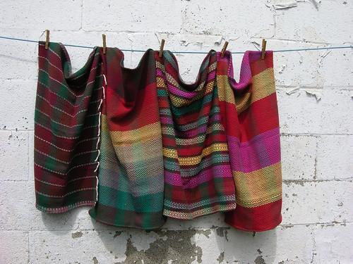 various cotton tea towels