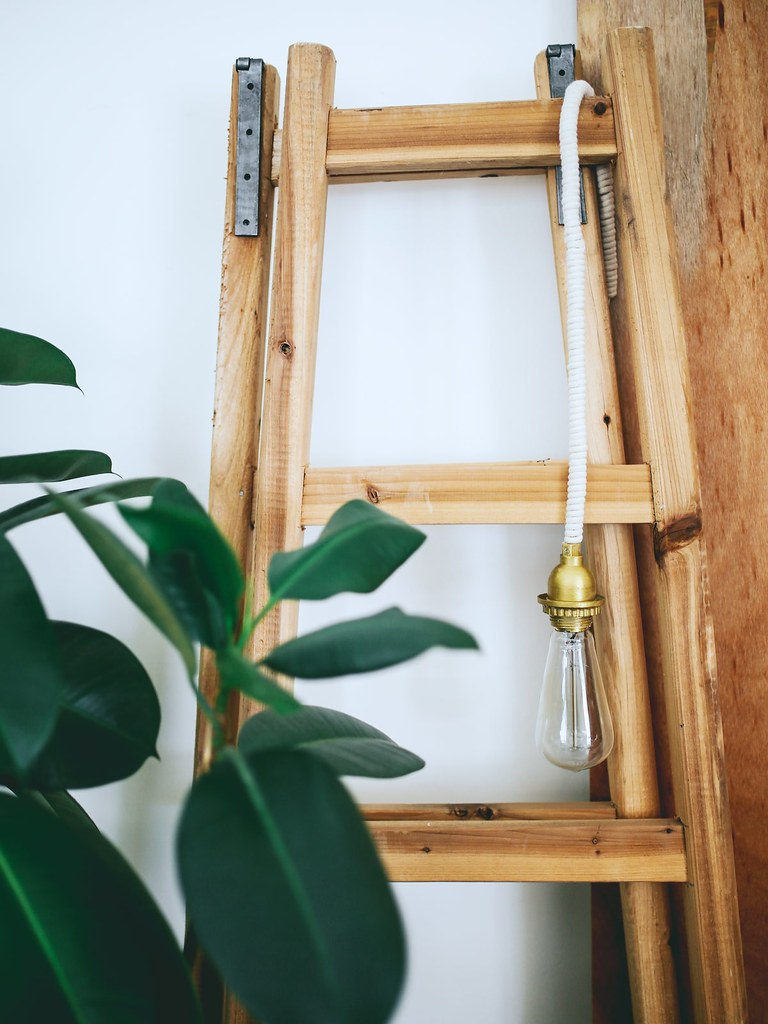 DIY Rope Wrapped Cord Lighting