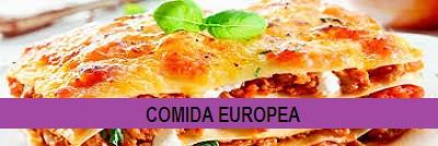 COMIDA EUROPEA