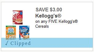 Kellogg's Cereals Coupon