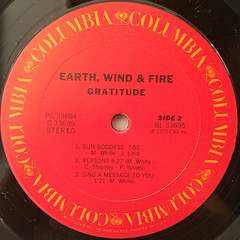 EARTH,WIND & FIRE:GRATITUDE(LABEL SIDE-B)