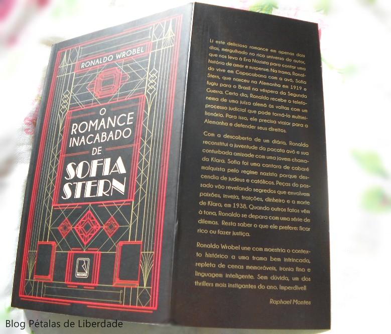 """Resenha: livro """"O romance inacabado de Sofia Stern"""", Ronaldo Wrobel, capa, raphael montes"""