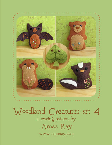 woodland creatures sewing pattern set 4 is here!