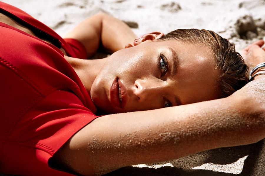 Hannah Ferguson by Randall Slavin for Ocean Drive