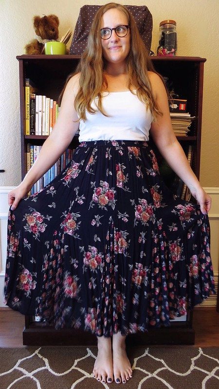 Floral Boho Skirt Refashion