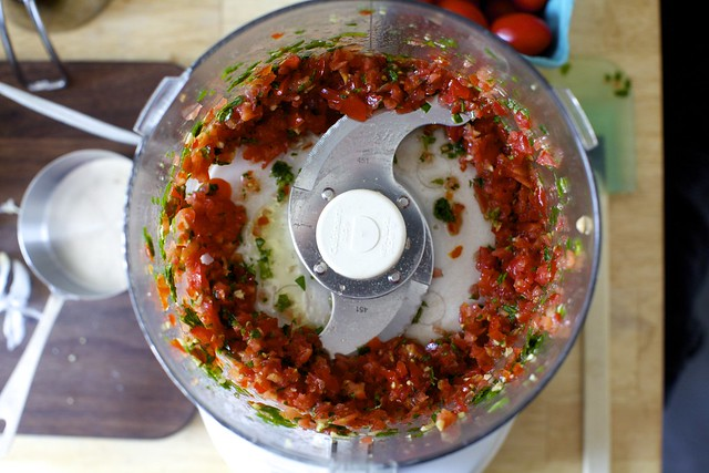 tomato relish or the supporting cast of eggplant caviar