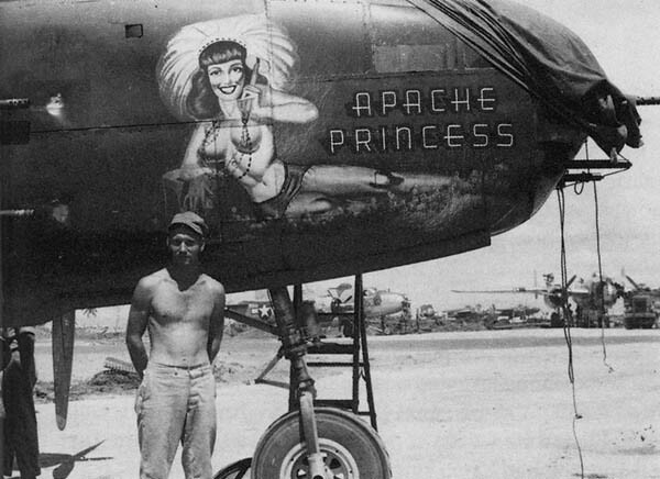 Paul Haller and B-25 Apache Princess