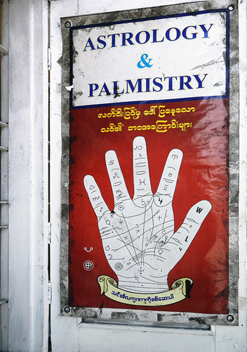 Palmistry sign in Yangon, Myanmar