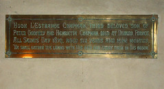 Died at Dinard, France, aged six years and nine months