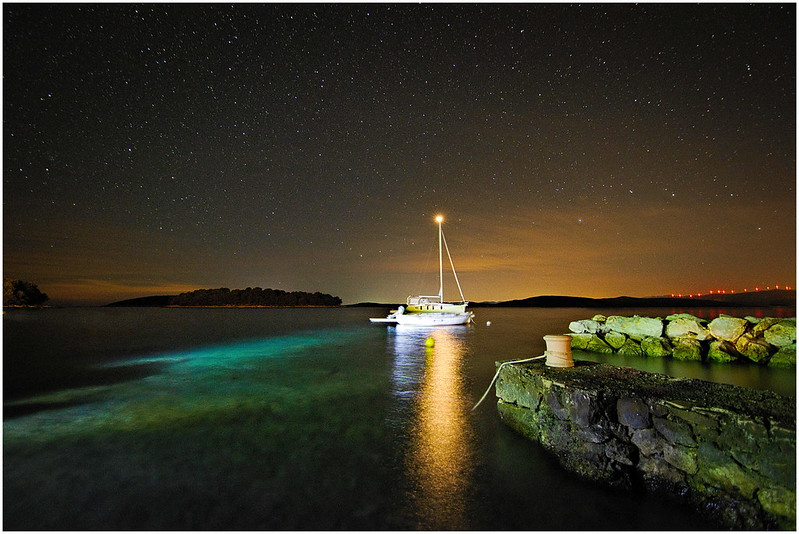 starry night in Croatia