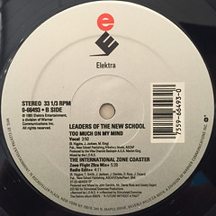 LEADERS OF THE NEW SCHOOL:THE INTERNATIONAL ZONE COASTER(LABEL SIDE-B)