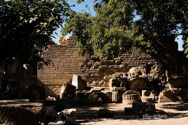 La parte trasera del imperio romano