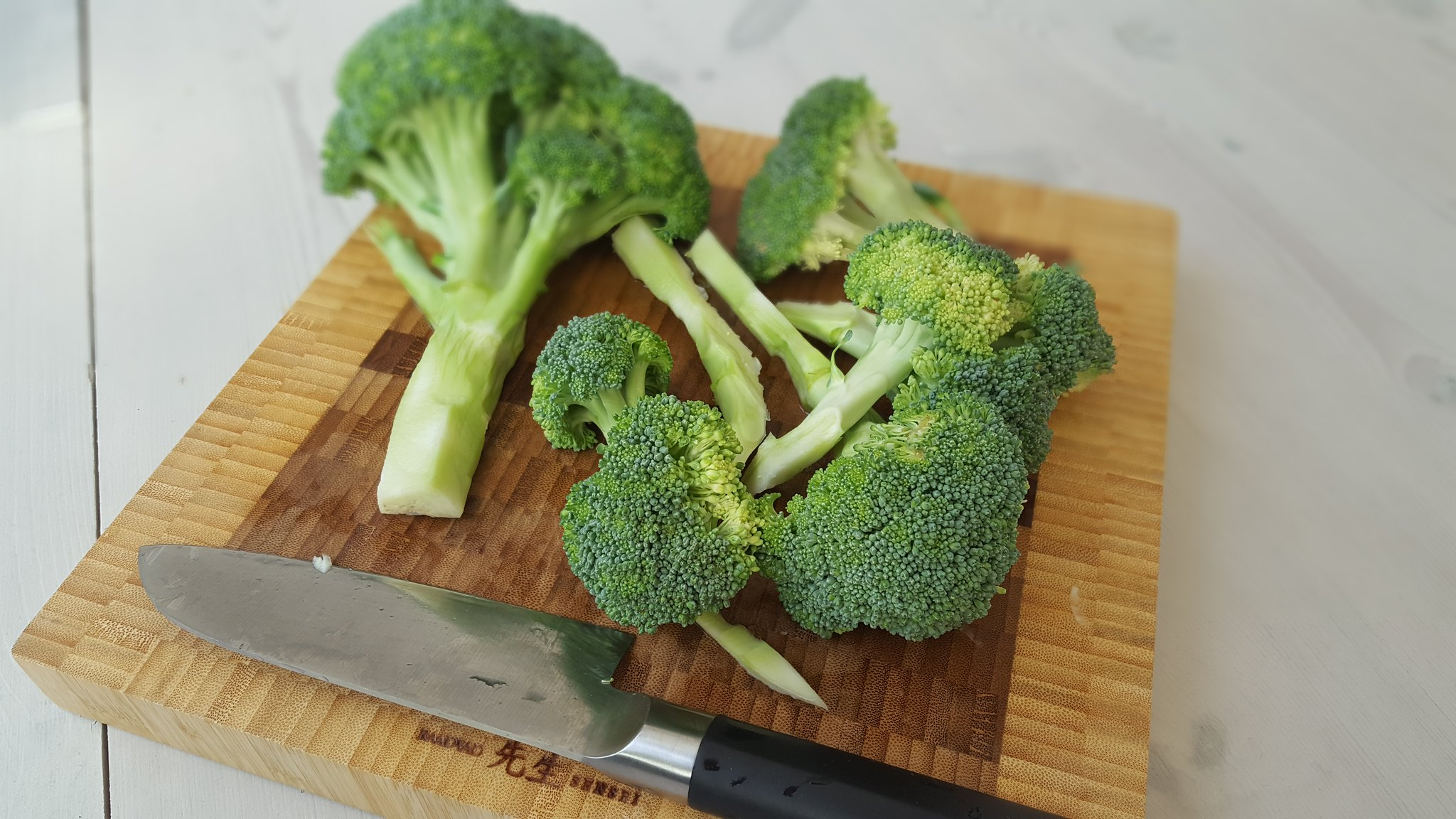 chopped bunch of broccoli